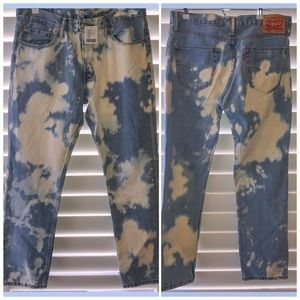 New Levi's 511 Bleached Stonewash Jeans